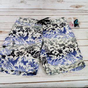 Kanu Surf Blue and Gray Swim Shorts NWT Size 4